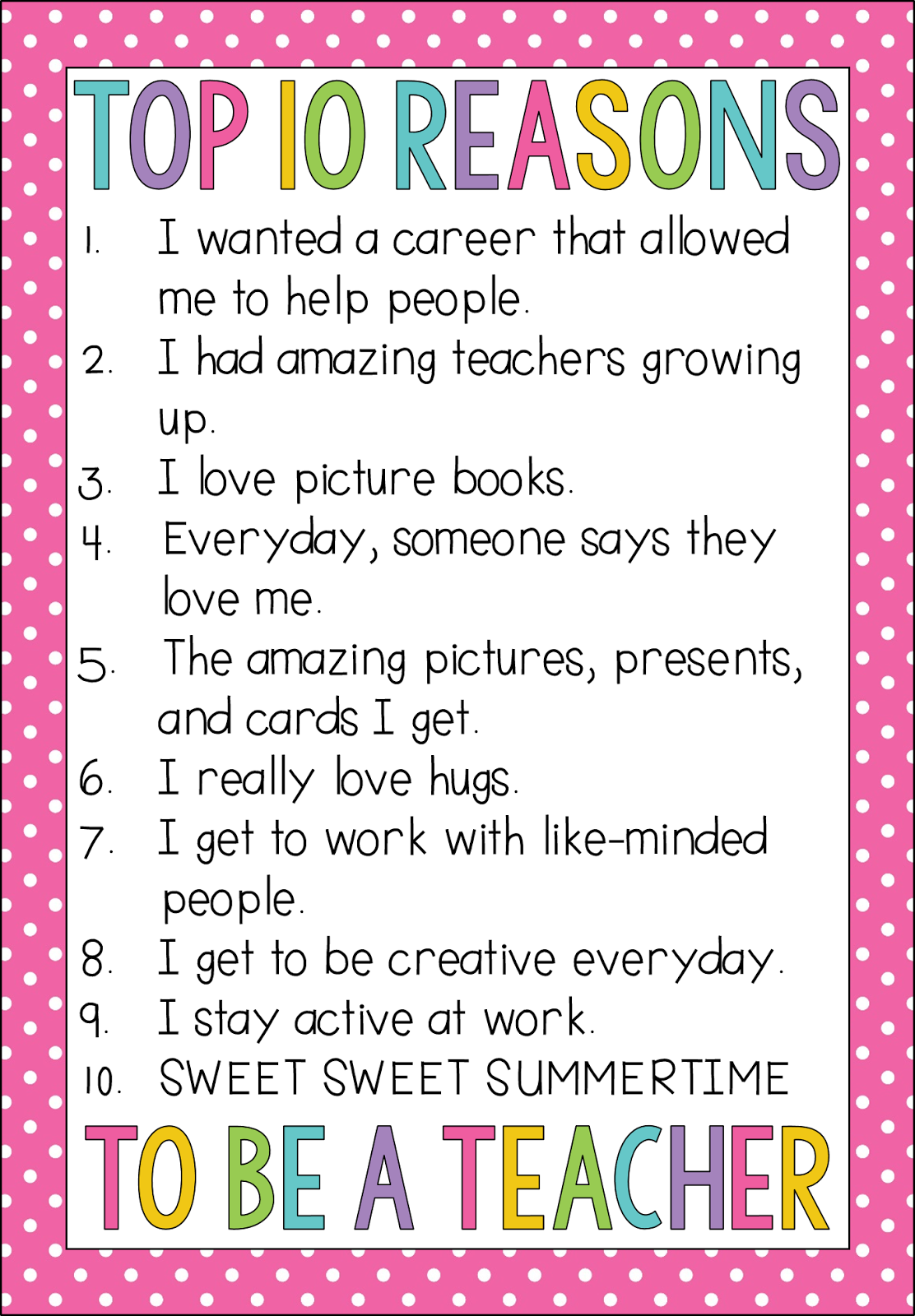 Top 10 Reasons I Became A Teacher
