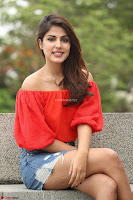 Rhea Chakraborty in Red Crop Top and Denim Shorts Spicy Pics ~  Exclusive 040.JPG