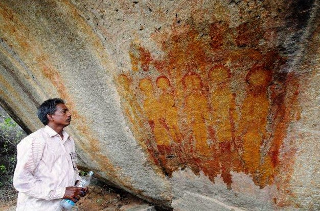 10,000-year-old rock paintings claimed to depict 'aliens and UFOs' found in Chhattisgarh