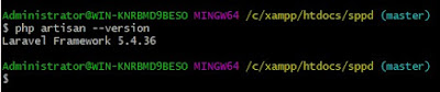 Cara Memeriksa versi Laravel : command line