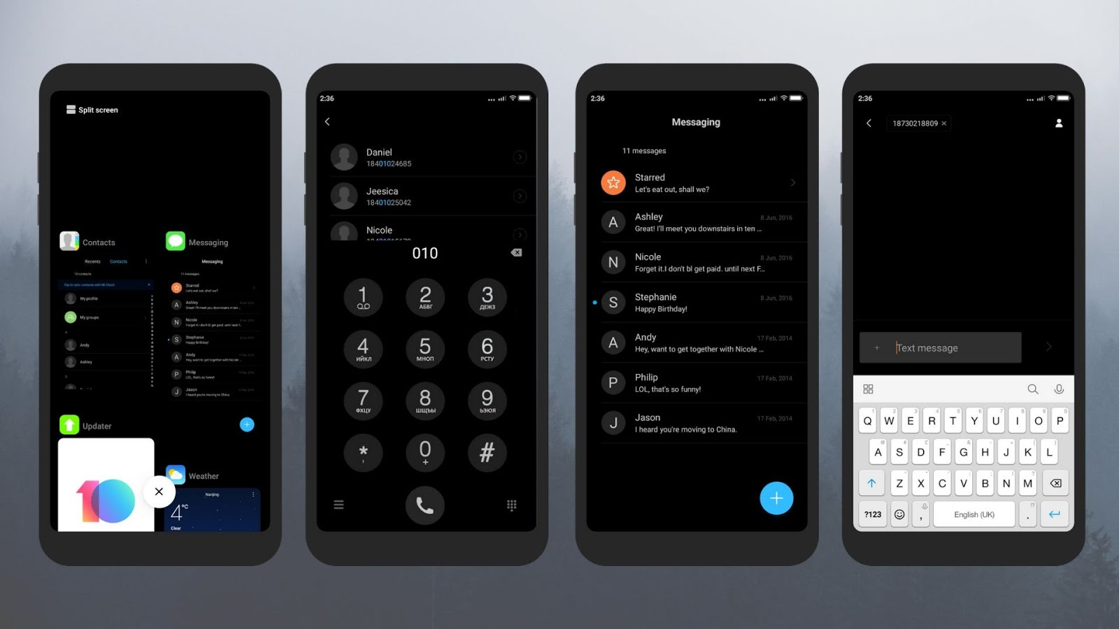 iOS 11 Dark v1.0 miui theme download