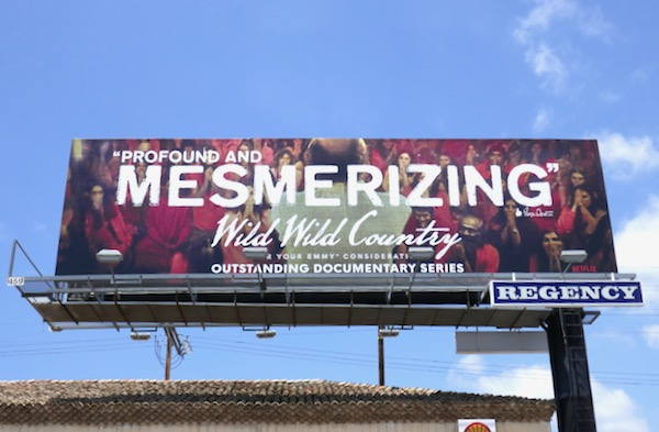 Wild Wild Country Mesmerizing Emmy FYC billboard