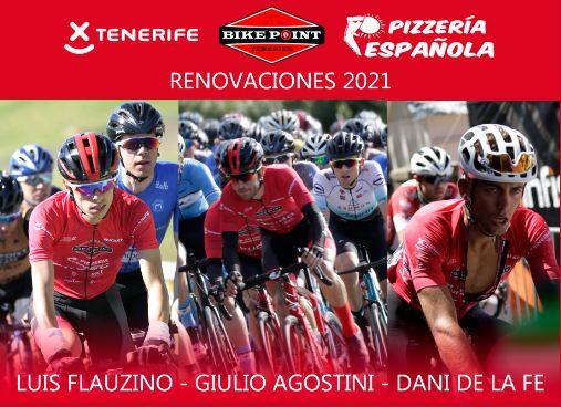 El Tenerife BikePoint Pizzería Española renueva a De la Fe, Agostini y Flauzino