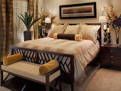The traditional decor in the bedrooms