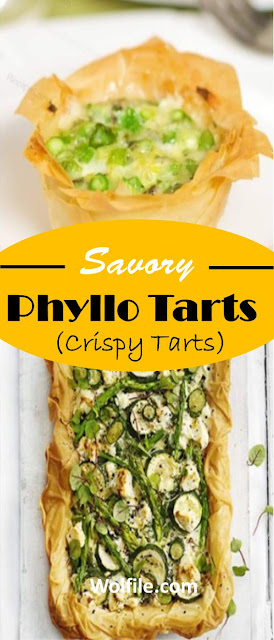 Savory Phyllo Tarts  Recipe (Crispy Tarts) #Snack #Salad #Tarts