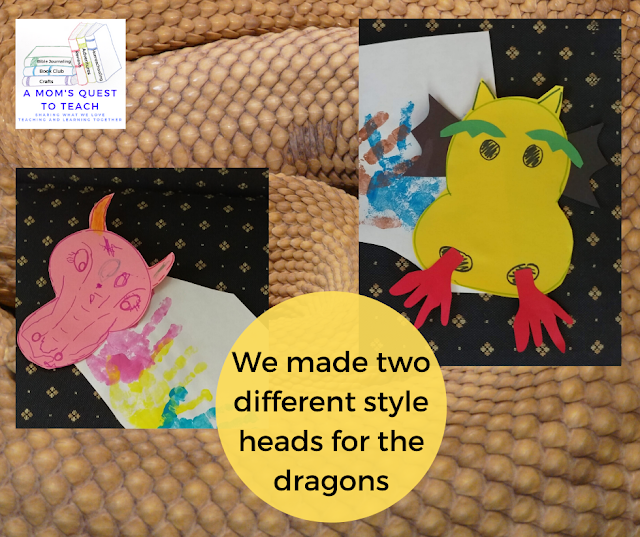 dragon handprint crafts