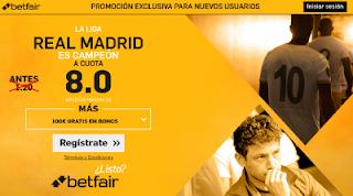 betfair supercuota 8 Real Madrid campeon Liga 17 mayo
