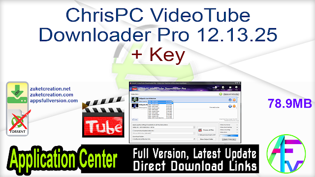 ChrisPC VideoTube Downloader Pro 12.13.25 + Key
