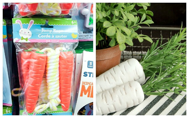 Dollar Tree carrot jump rope before and after