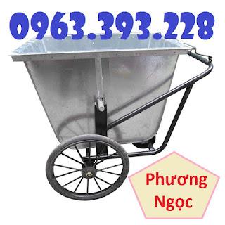 Xe thu gom rác bằng tôn 400 Lít, xe rác tôn 3 bánh, xe rác công cộng Xe_gom_rac_bang_ton
