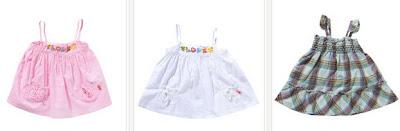 Vestidos summer para bebés