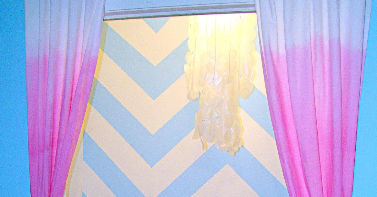 Blue Ombre Window Curtains: Thrift And Thriftability: Cheapest Ombre Curtains Ever