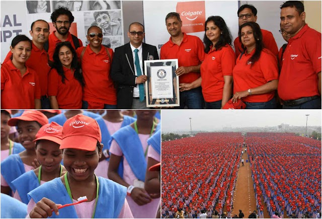 With 26,382 people brushing their teeth simultaneously, Colgate sets a new Guinness  World Record