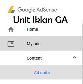 Cara Menampilkan Menu Unit Iklan Adsense
