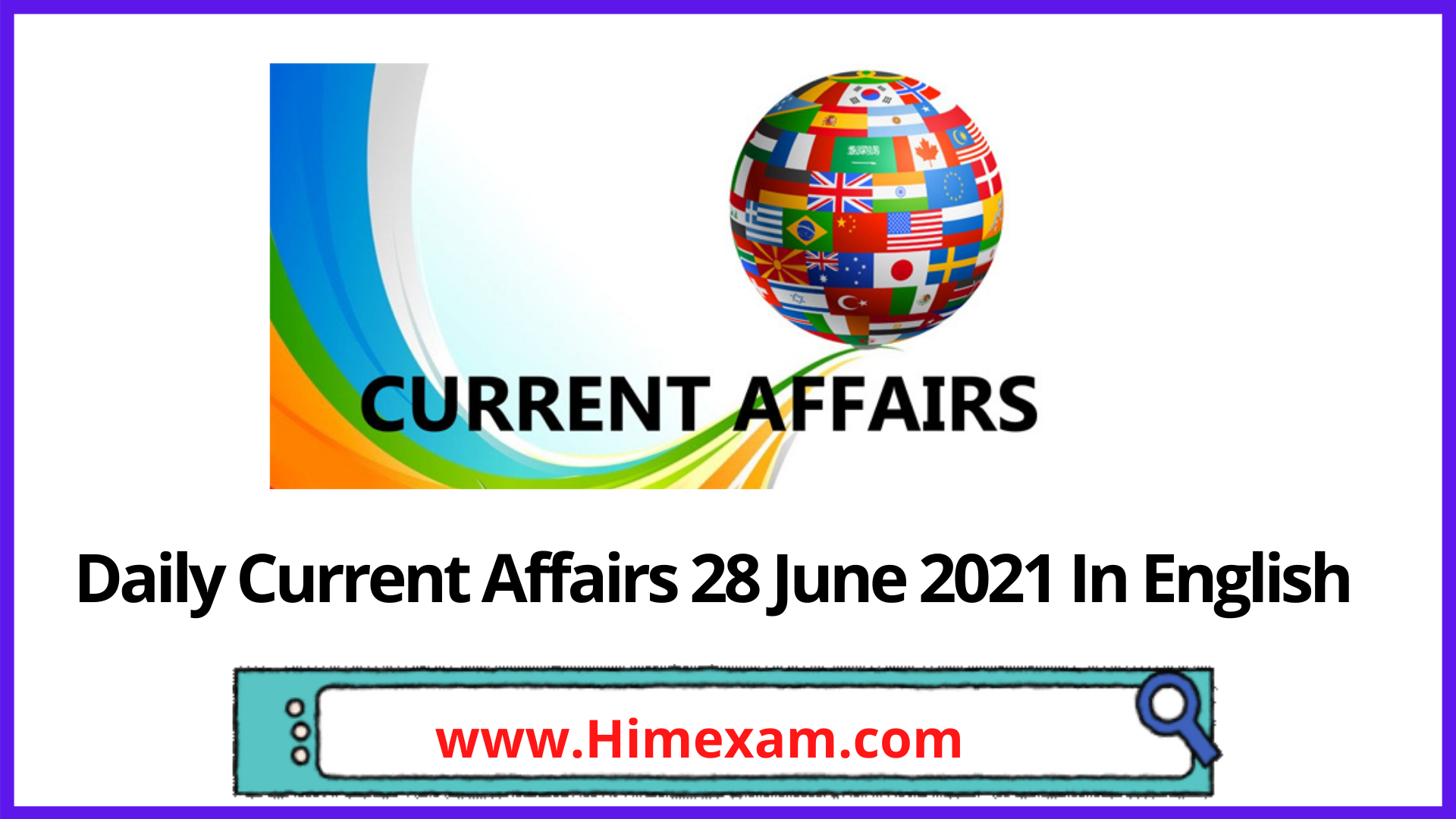 Daily Current Affairs 28 June 2021 In English