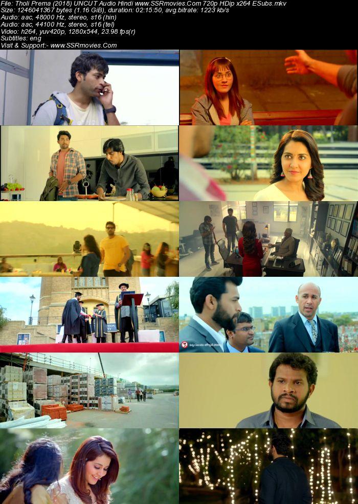Tholi Prema (2018) UNCUT Audio Hindi 720p HDRip x264 1.2GB ESubs Movie Download