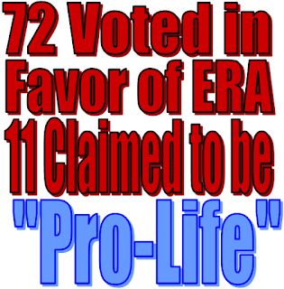 Illinois ProLife groups vow to withhold Endorsement for ERA-supporting Lawmakers