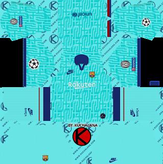 F.C. Barcelona 2019/2020 champions league Nike Kit - Dream League Soccer Kits