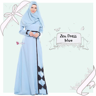 Gamis Valisha Zea Dress Blue