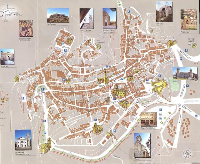 Mapa da cidade de Montepulciano