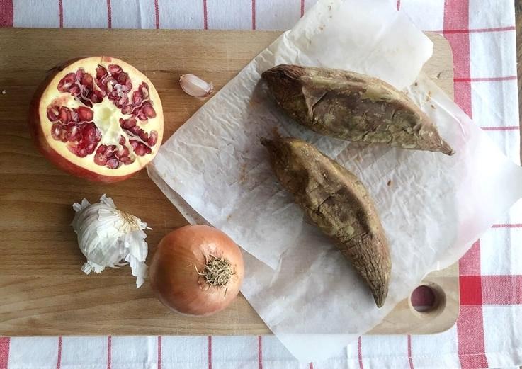 Crema de boniato y pera con jengibre