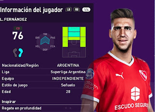 PES 2020 Faces Leandro Miguel Fernández by Oliver Martin