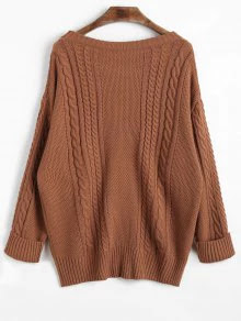 Zaful Cable Knit Sweater