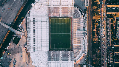 Football field HD, Stadium, Aerial view