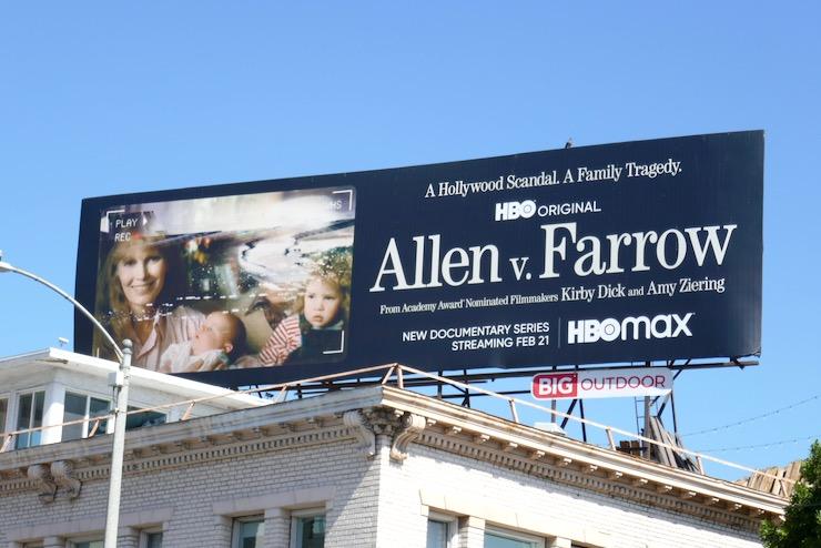 Allen v Farrow series premiere billboard