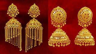 Gold Jhumka Designs Latest Earring 2018