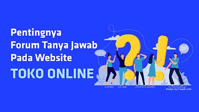 forum pada website toko online