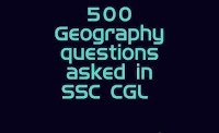 500 Geography questions asked in SSC CGL