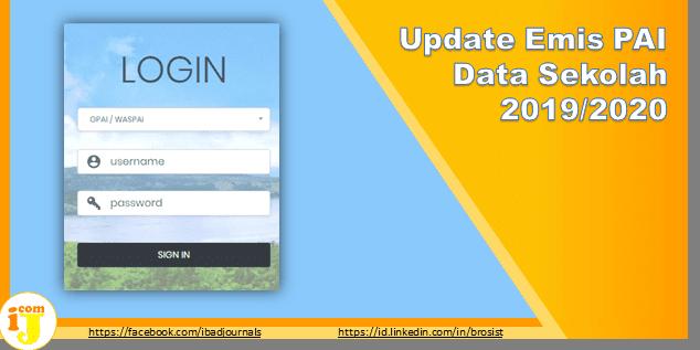 Update Emis PAI Data Sekolah 2019/2020