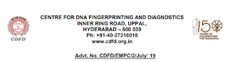 CDFD Lab Technician Recruitment 2019 (Hyderabad) - Previous Papers