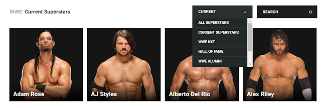 Wrestling Website Offers No Way To Search By Gender