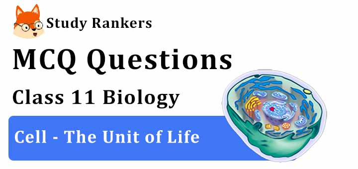 MCQ Questions for Class 11 Biology: Ch 8 Cell - The Unit of Life