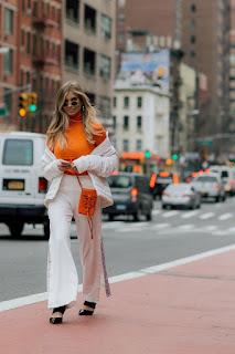 Xenia van der Woodsen Arrives At Tory Burch Fall Winter 2018 Fashion Show At New York Fashion Week