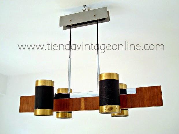 Comprar lámpara de techo original, vintage autentica, años 70 en buen estado, restaurada