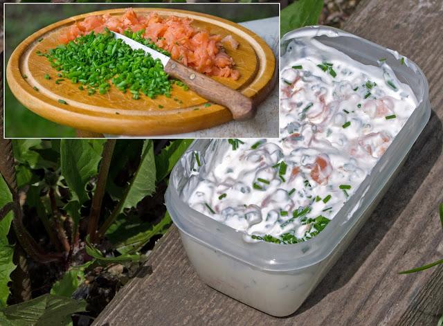 salmone yogurt erba cipollin