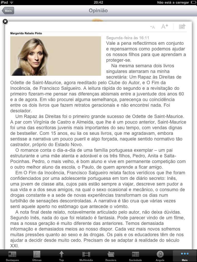 francisco salgueiro: Crónica de Margarida Rebelo Pinto