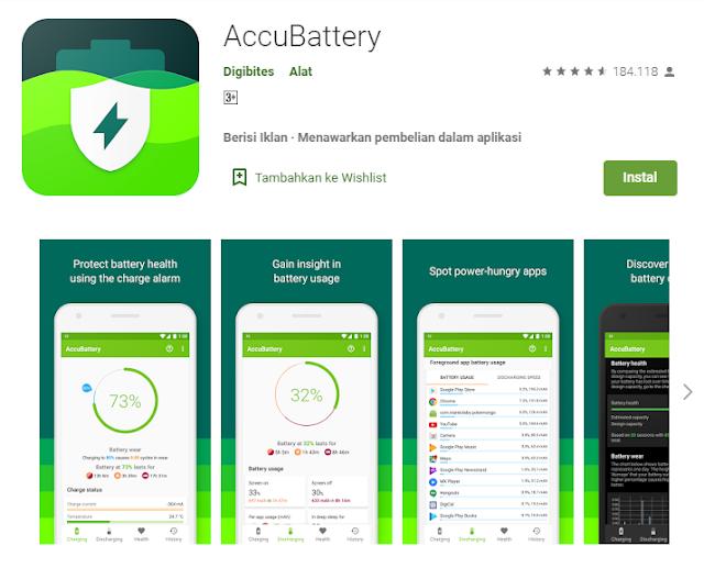 cara cek kesehatan baterai tanam android
