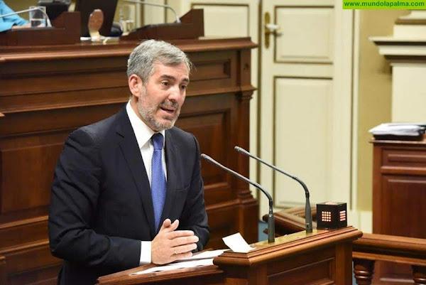 Clavijo defiende en el Senado que se activen los test para detectar Covid-19 en los aeropuertos canarios