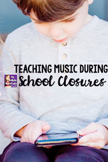 Teaching music during school closures can be a challenge. Distance learning for group performances, singing, making music together can't be replaced.  Games, activities, videos and project ideas for music remote learning are listed here.  Free downloads too!