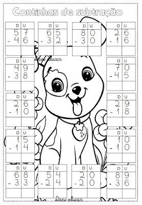 Atividades de Matemática, subtração, Atividades para 2º ano, Operações matemáticas, Ensino fundamental,