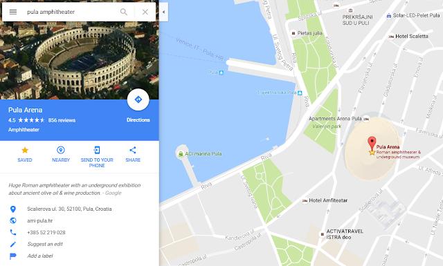 google-maps-pula-arena
