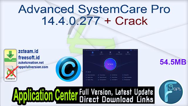 Advanced SystemCare Pro 14.4.0.277 + Crack_ ZcTeam.id