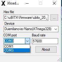 How to upgrade uBITX Firmware