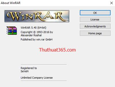 Hướng dẫn kích hoạt bản quyền phần mềm giải nén WinRar đơn giản nhất