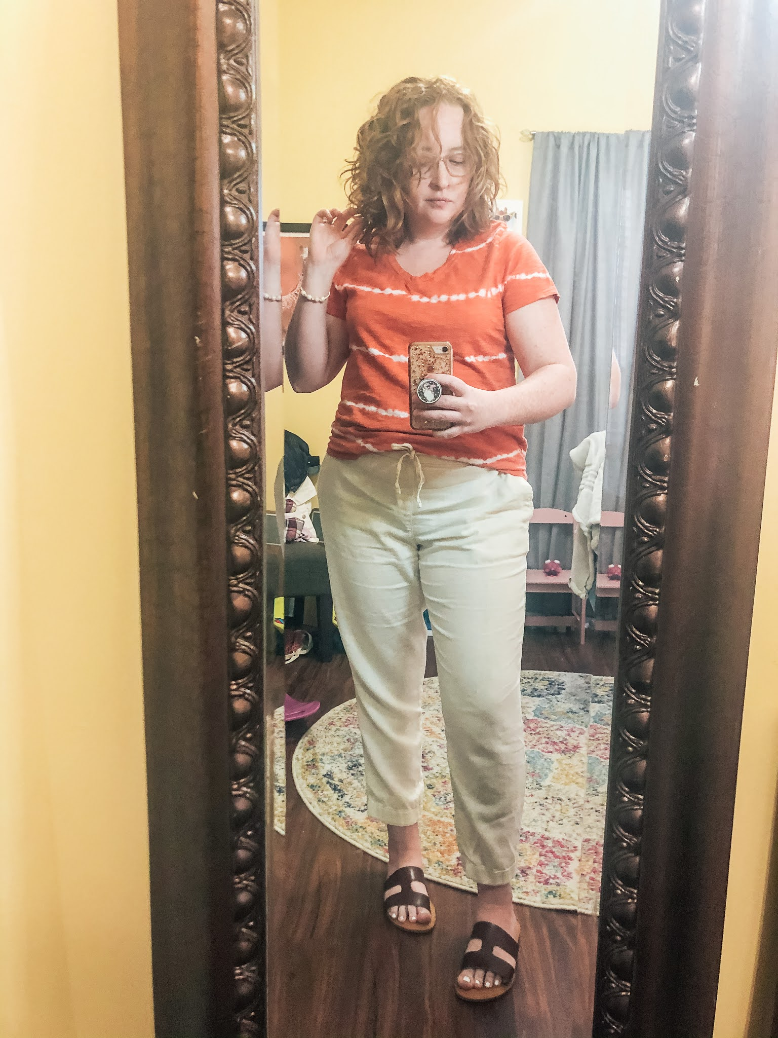 orange-tie-dye-tee-linen-pants