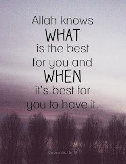 Tuhan tahu yang terbaik